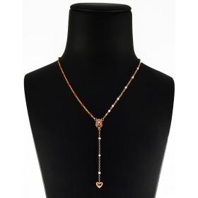 Collana Rosario in Argento 925 Bicolore con pendente Cuore