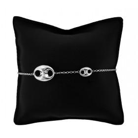 Bracciale catena maglia marina doppia