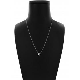 Collana Catena Minimal in Argento 925 con Cuore
