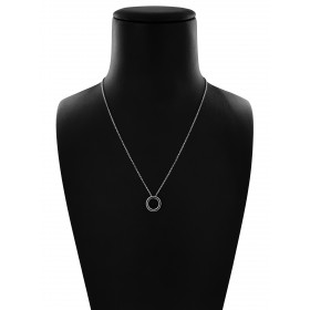 Collana Catena Minimal in Argento 925 con Cerchio